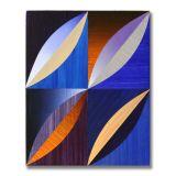 Arcs (1), Acrylic on Wood, 24 x 30cm