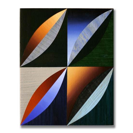 Arcs (3), Acrylic on Wood, 24 x 30cm