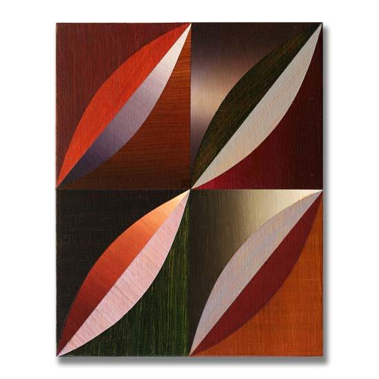 Arcs (4), Acrylic on Wood, 24 x 30cm