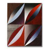 Arcs (6), Acrylic on Wood, 24 x 30cm