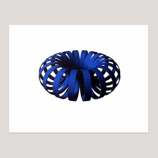 Blue Coil, Screenprint, 70 x 58cm