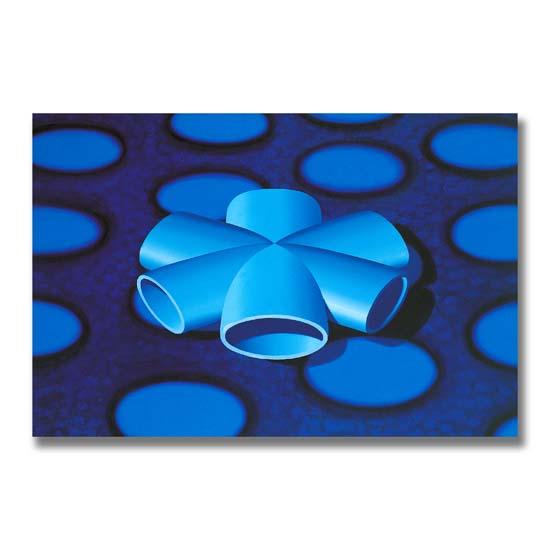 Blue Form, Acrylic on Canvas, 183 x 122cm