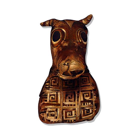 Mummified Egyptian Bull, Acrylic/Oil/Canvas/Board, 35 x 60cm