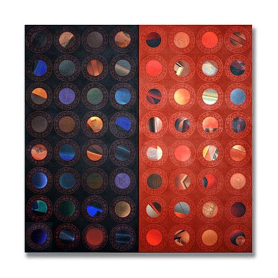 Cameos, Acrylic on Canvas, 180 x 180 cm
