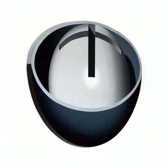 Crosscut Grey Sphere
