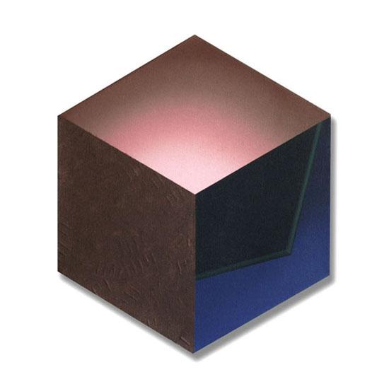 Cube (6), Acrylic on Canvas, 35 x 41cm