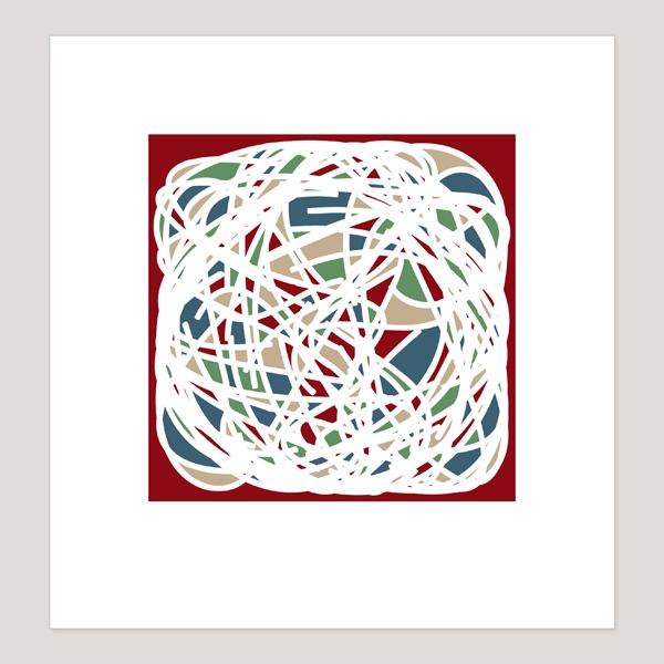 Four Colour Theorem, Archival Digital Print, 20 x 21 cm