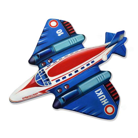 HUKI 10 toy plane, Acrylic/Oil/Canvas/Board, 70 x 60cm