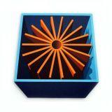 Orange Cog, Acrylic/Canvas/Board, 83 x 83cm