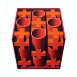 Orange Crosses, Acrylic/Canvas/Board, 82 x 92cm