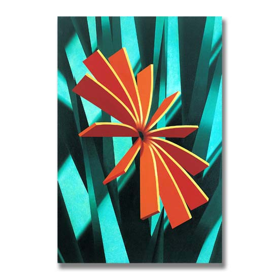 Orange Form, Acrylic on Canvas, 122 x 183cm