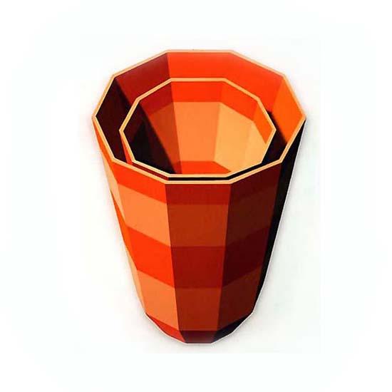 Orange and Cream Cups, Acrylic on Canvas, 59cm x 84cm