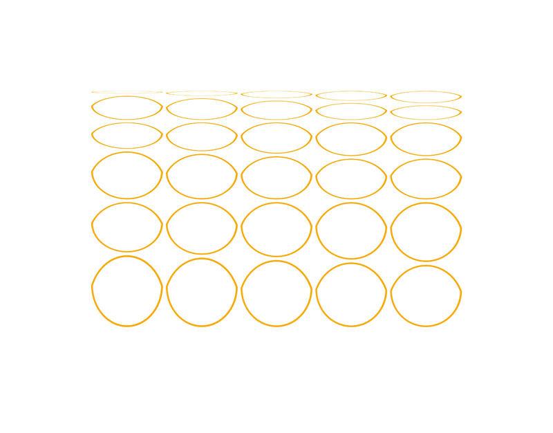 Oval Curves (20) Archival Pigment Print, Paper Size 37 x 29cm