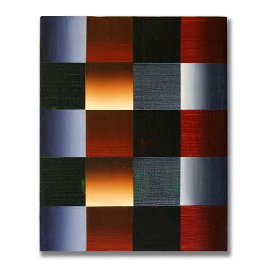 Squares (3), Acrylic on Wood, 24 x 30cm