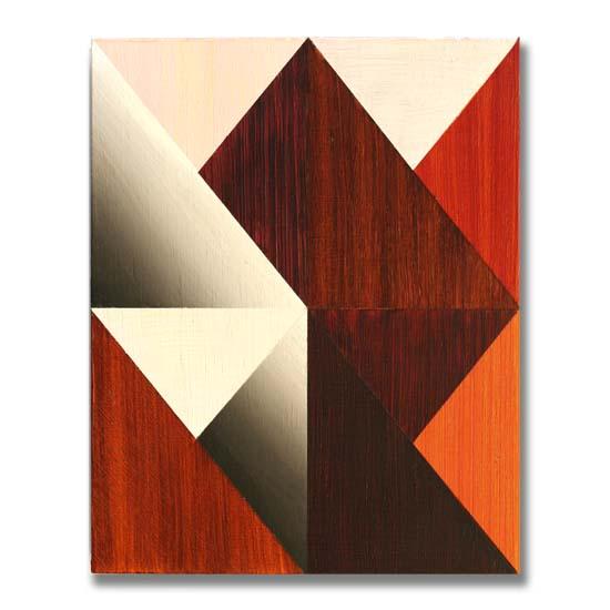 Triangles (2), Acrylic on Wood, 24 x 30cm