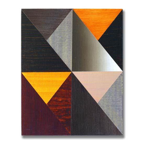 Triangles (3), Acrylic on Wood, 24 x 30cm