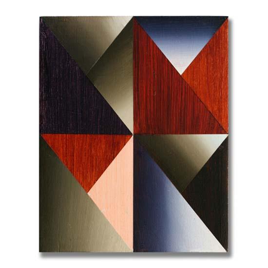 Triangles (4), Acrylic on Wood, 24 x 30cm