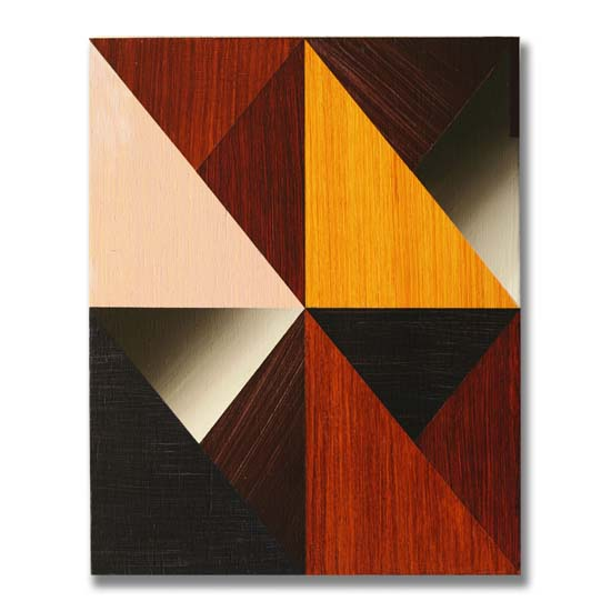 Triangles (5), Acrylic on Wood, 24 x 30cm