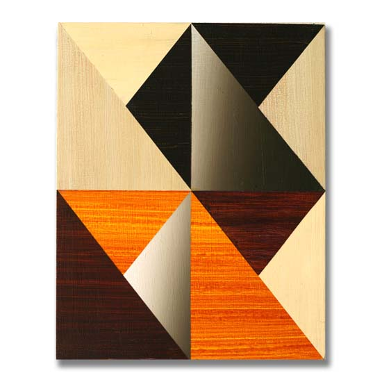 Triangles (7), Acrylic on Wood, 24 x 30cm