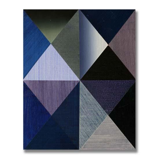 Triangles (3) (3), Acrylic on Wood, 24 x 30cm