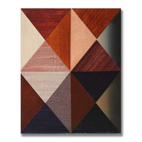 Triangles (3) (4), Acrylic on Wood, 24 x 30cm