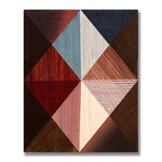 Triangles (3) (7), Acrylic on Wood, 24 x 30cm