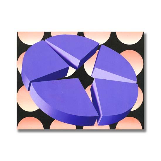 Violet Star, Acrylic on Canvas, 61 x 46cm