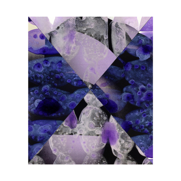 Violet and Silver Collage (10), 27.5 x 33cm