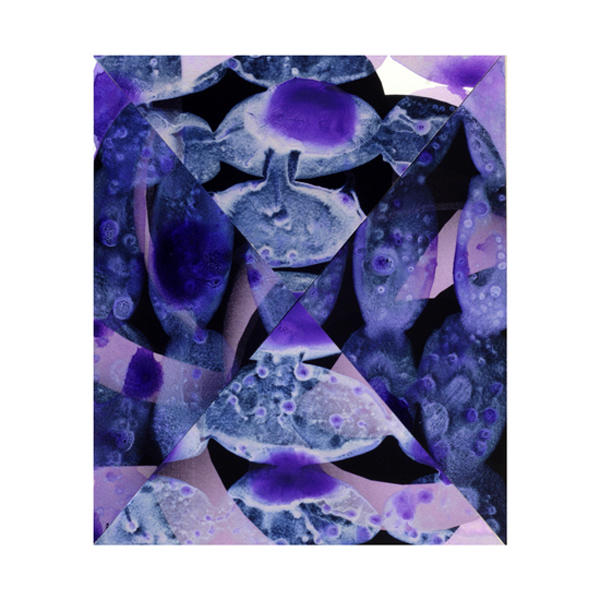 Violet and Silver Collage (11), 27.5 x 33cm