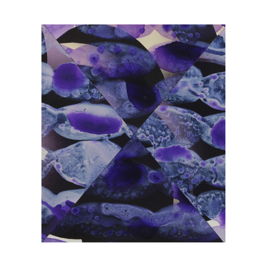 Violet and Silver Collage (1), 27.5 x 33cm