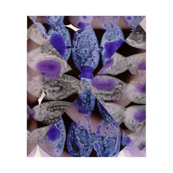 Violet and Silver Collage (4), 27.5 x 33cm