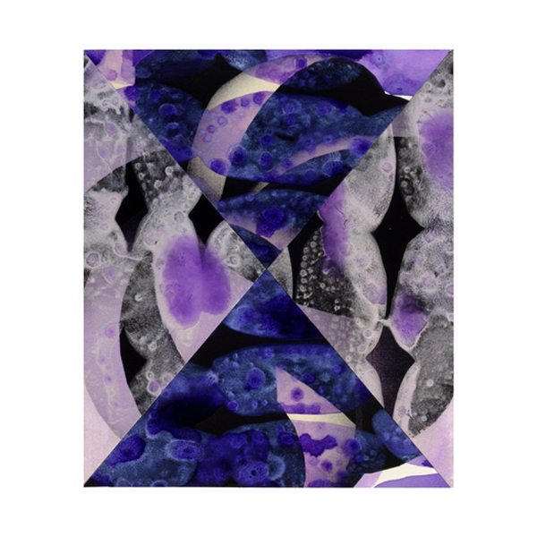 Violet and Silver Collage (9), 27.5 x 33cm
