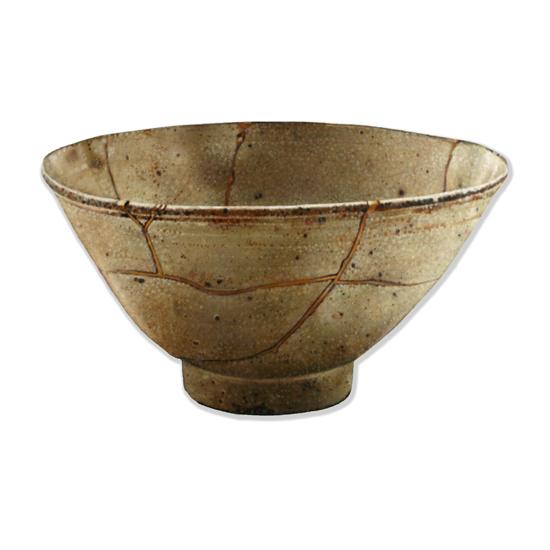 Korean Tea Bowl (Kintsugi), Acrylic/Oil/Canvas/Board, 70 x 50cm