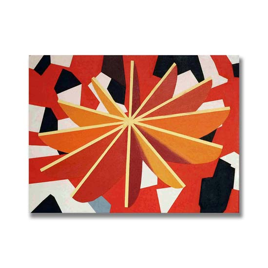 Yellow Star, Acrylic on Canvas, 61 x 46cm