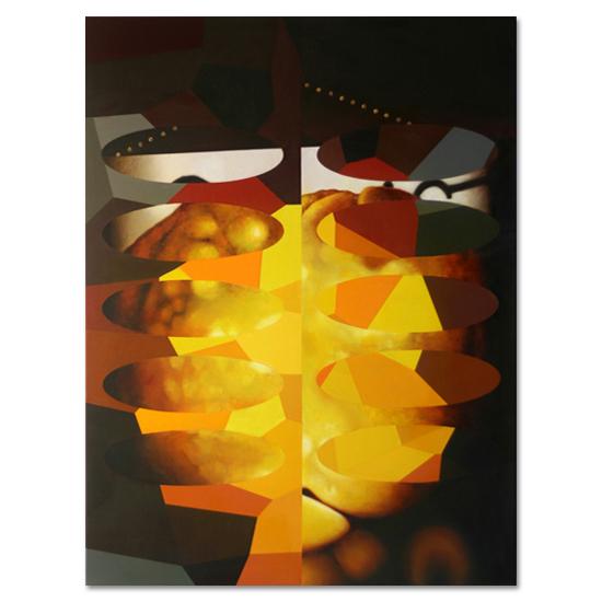 Redivider (Frieze 2) 92 x 122cm Acrylic/Oil/Canvas