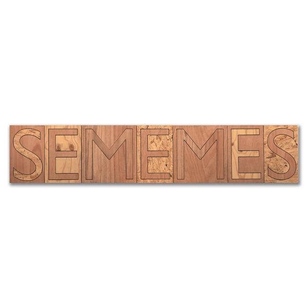 Sememes, Plywood, 40 x 197cm