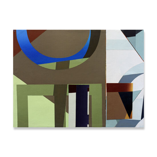 Redivider (Frieze 9) Acrylic/Canvas/Wood, 40 x 30cm