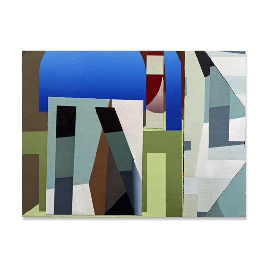 Redivider (Frieze 10) Acrylic/Canvas/Wood, 40 x 30cm