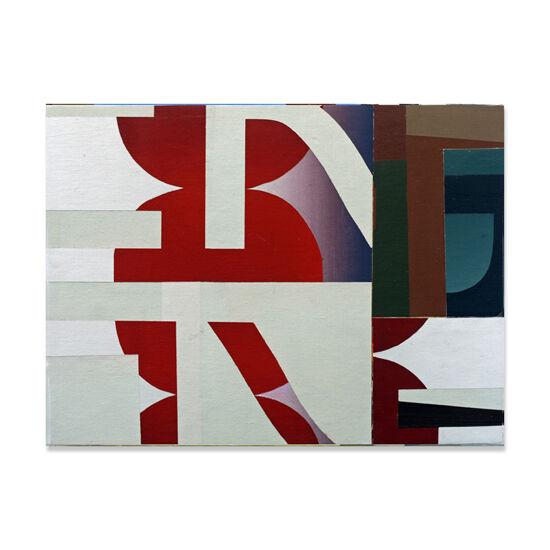 Redivider (Frieze 11) Acrylic/Canvas/Wood, 40 x 30cm