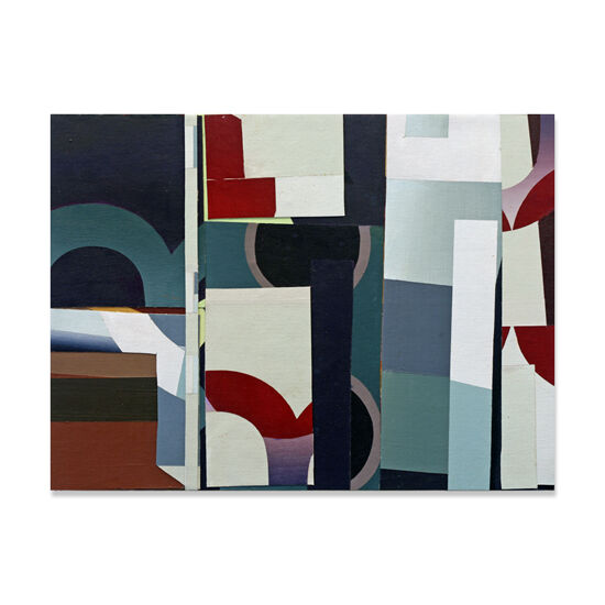 Redivider (Frieze 12) Acrylic/Canvas/Wood, 40 x 30cm