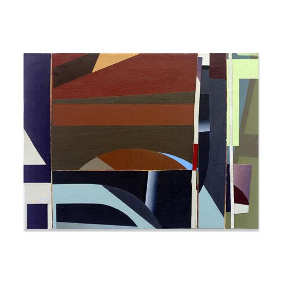 Redivider (Frieze 13) Acrylic/Canvas/Wood, 40 x 30cm