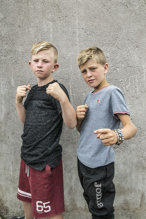 Two Boys, halting site, Cork, Ireland 2018