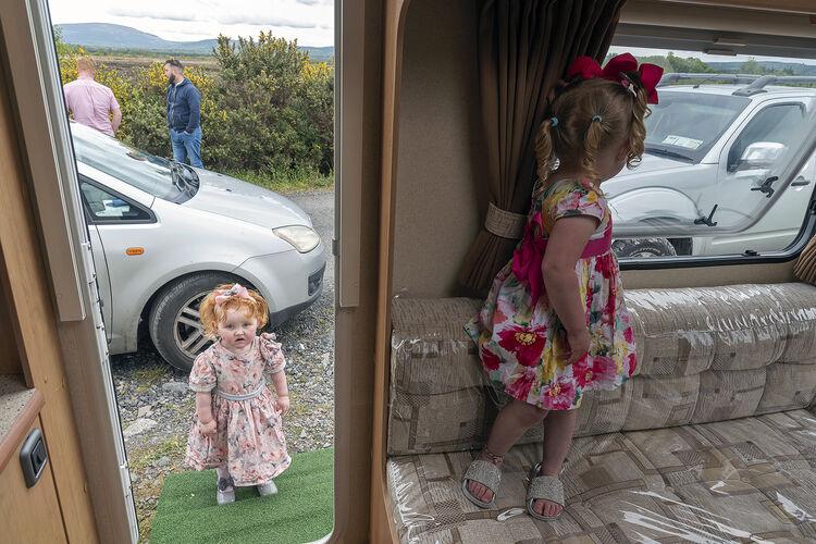 Two Girls in Caravan, Tipperary, Ireland 2021