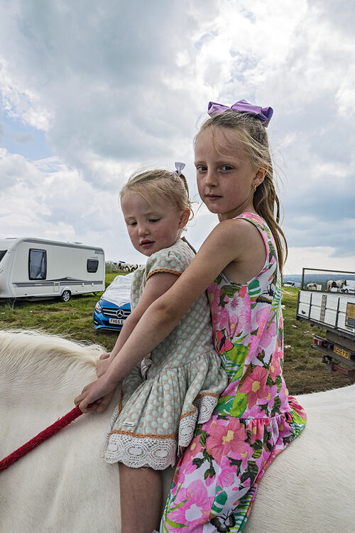 Two Sisters On Horse, Appleby, UK 2018