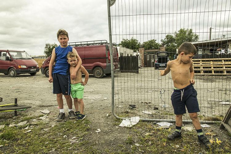Three Boys, roadside campsite, Limerick, Ireland 2018