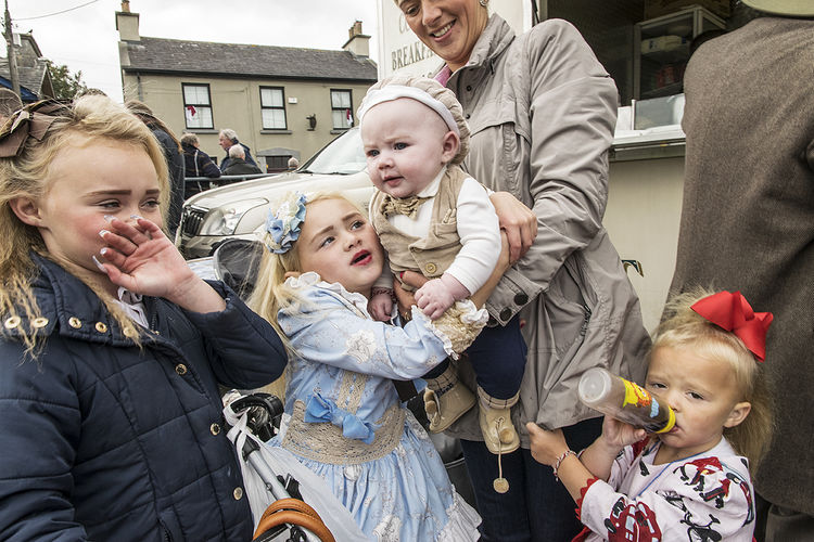 Mother and children at the horse fair, Galway, Ireland 2018