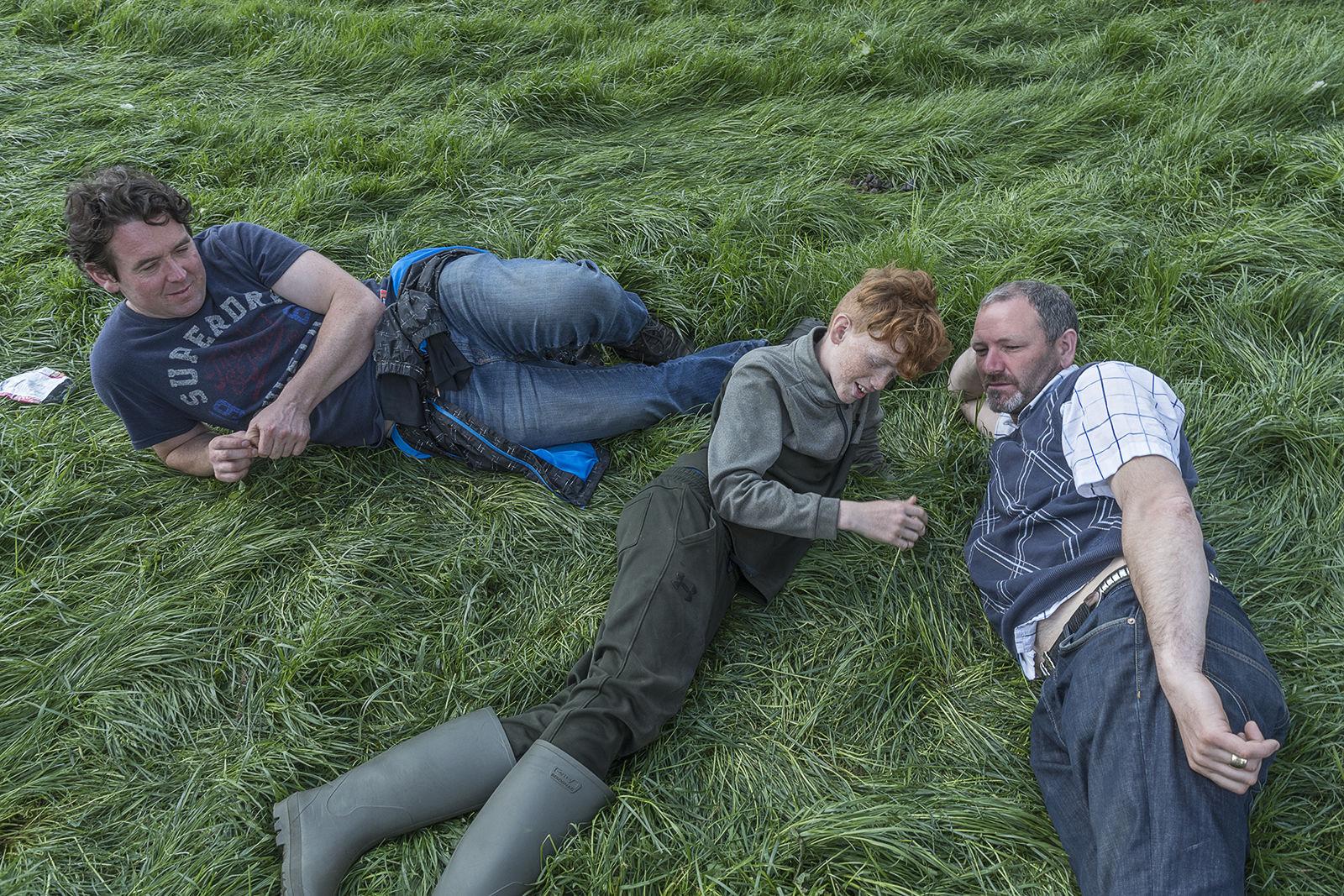 Three Men on Field, Appleby Horse Fair, UK 2019