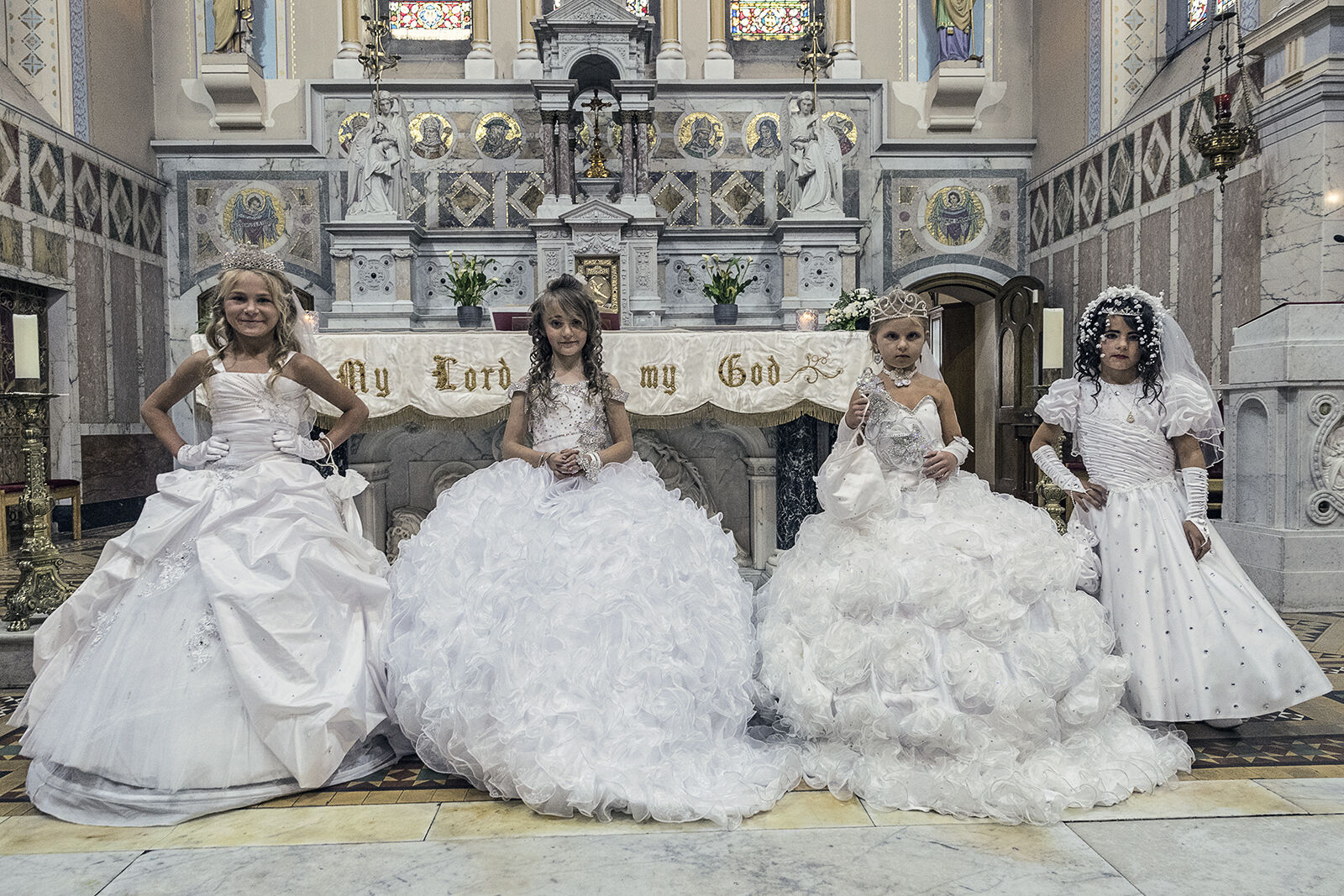 Four Reilly Girls on their First Holy Communion, Tipperary, Ireland 2019