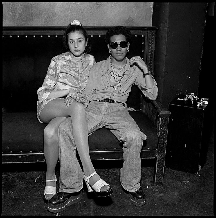 Couple at 70's Night,Boston 1993