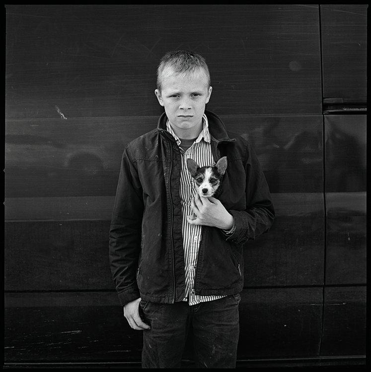 Gerry with Dog, Ballinasloe, Galway, Ireland 2016